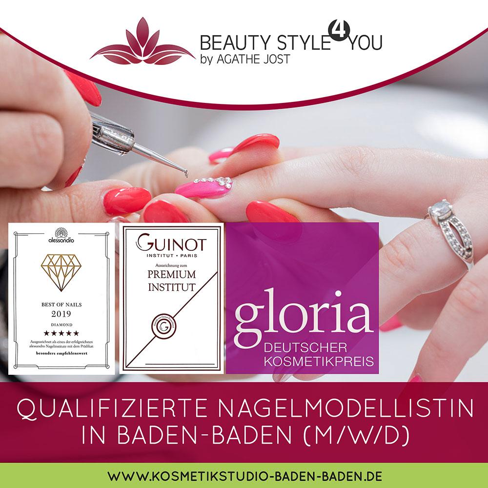 Stellenangebot BeautyStyle4You Baden-Baden Nagelmodellistin
