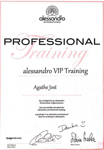 alessandro - VIP Training - International Kosmetikstudio Baden-Baden